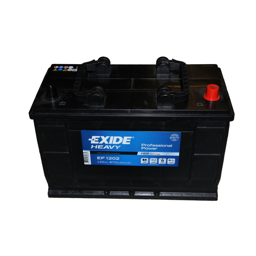 Autobaterie EXIDE Professional Power 12V 120Ah 870A, EF1202
