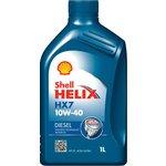 Motoröl SHELL Helix  Diesel HX7 10W40, 1 Liter