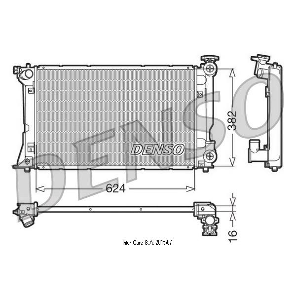 Kühler, Motorkühlung DENSO DRM50018
