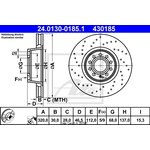 Bremsscheibe, 1 Stück ATE 24.0130-0185.1