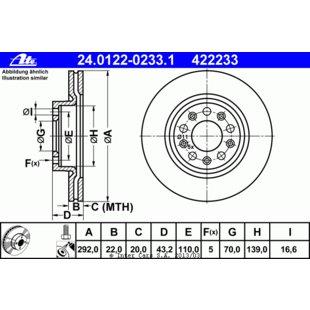 1 Stück TRW DF4479 Bremsscheibe