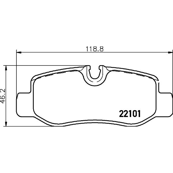 Bremsbeläge, Scheibenbremse TEXTAR 2210101