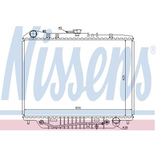 Kühler, Motorkühlung NISSENS 63117