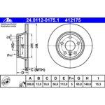 Bremsscheibe, 1 Stück ATE 24.0112-0175.1