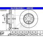 Bremsscheibe, 1 Stück ATE 24.0126-0105.1
