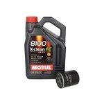Motoröl mit Ölfilter MOTUL 8100 X-CLEAN FE 5W30 5L + BOSCH 0 986 452 041