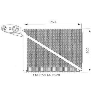 Verdampfer, Klimaanlage EASY FIT NRF 36077