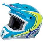 Off Road Helm FLY KINETIC FULLSPEED, Blau/Gelb fluo, Größe L