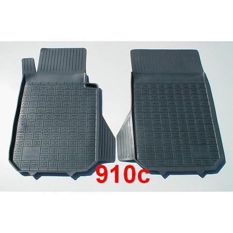 POLGUM Gumové koberce, přední, 2 ks, černé, pro vozy typu Alfa Romeo, BMW, Honda, Hummer H2, Mercedes-Benz a další