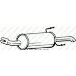 Zadní tlumič výfuku BOSAL BOS185-473