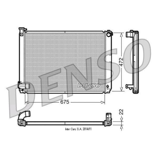 Kühler, Motorkühlung DENSO DRM51005
