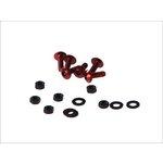 Schraubenset für Scheiben und Windabweiser 8 Stück M5x16 rot