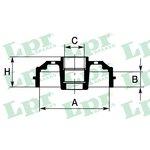 Bremstrommel, 1 Stück LPR 7D0637