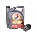 Motoröl mit Ölfilter TOTAL Quartz 9000 Energy 5W40 5L + BOSCH 0 451 103 079