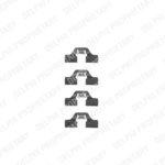 Zubehörsatz, Scheibenbremsbelag DELPHI LX0307