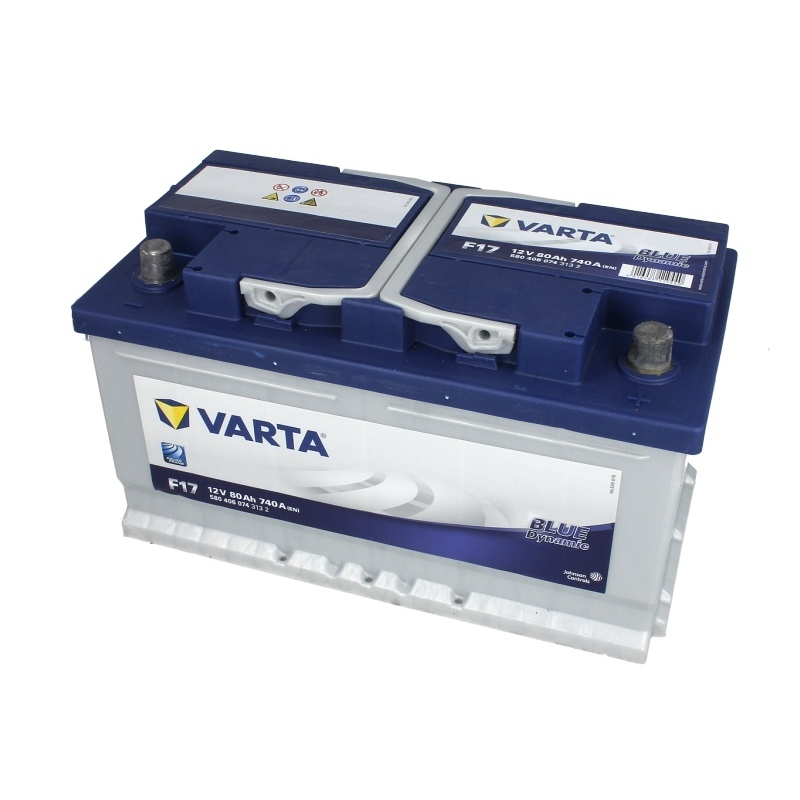 Autobaterie VARTA Blue Dynamic 12V 80Ah 740A, 580 406 074