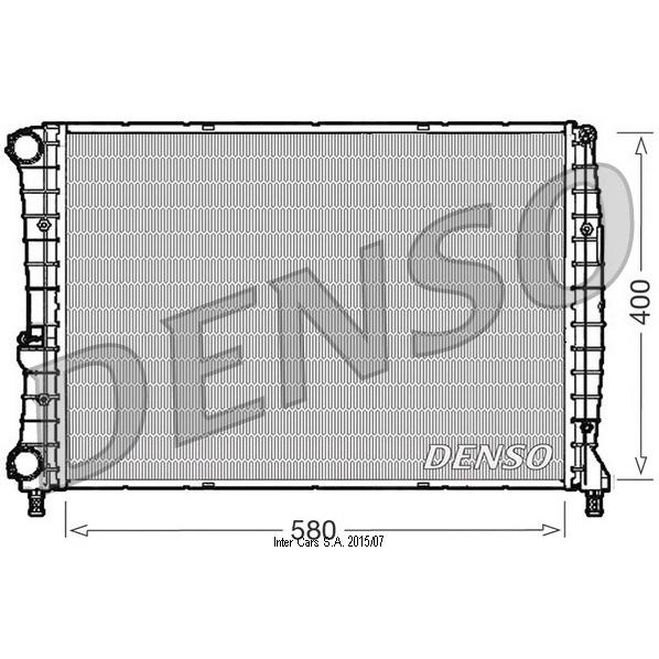 Kühler, Motorkühlung DENSO DRM01002