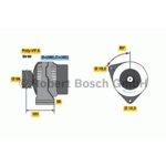 Lichtmaschine, Generator BOSCH 0 986 041 120 generalüberholt
