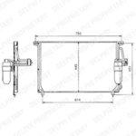 Kondenzátor, klimatizace DELPHI TSP0225097