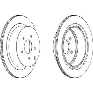 Bremsscheibe, 2 Stück FERODO DDF1506