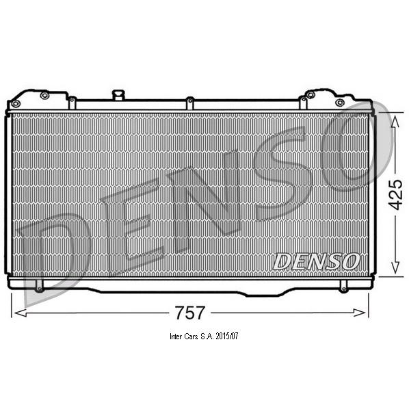 Kühler, Motorkühlung DENSO DRM23023