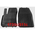 POLGUM Gumové koberce, přední, 2 ks, černé, pro vozy typu Fiat, Honda, Hyundai, Mercedes-Benz, Opel a Volvo