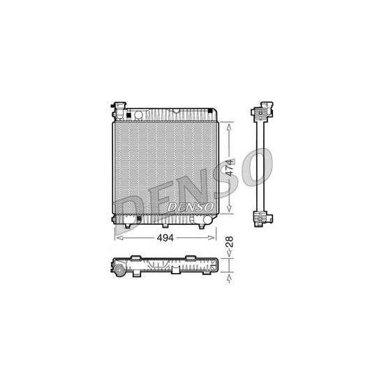 Kühler, Motorkühlung DENSO DRM17001