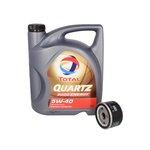 Motoröl mit Ölfilter TOTAL QUARTZ 9000 ENERGY 5W40 5L + MANN W 75/3