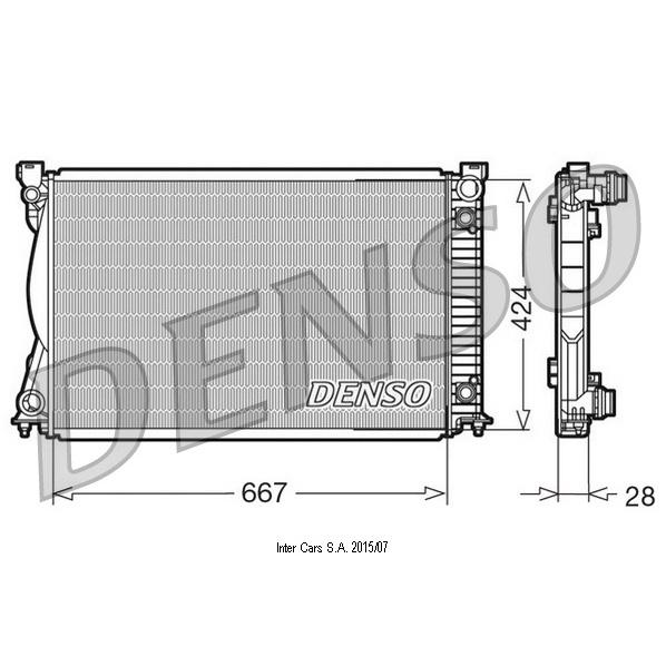 Kühler, Motorkühlung DENSO DRM02039