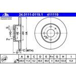 Brzdový kotouč ATE - TEVES 24.0111-0119.1