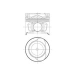 Kolben NURAL 87-123400-30