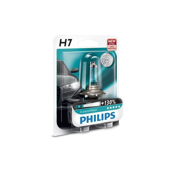 gl hlampe philips h7 12v 55w x treme vision plus 130. Black Bedroom Furniture Sets. Home Design Ideas