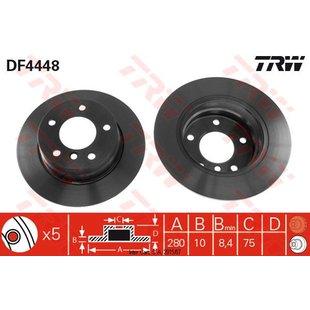 Bremsscheibe, 1 Stück TRW DF4448