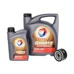 Motoröl mit Ölfilter TOTAL QUARTZ 9000 ENERGY5W40 5+1L + MANN W 75/3