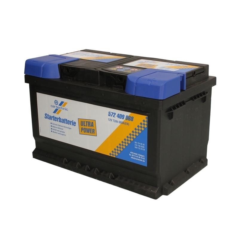 Autobaterie CARTECHNIC Ultra Power 12V 72Ah 680A, CART572409068