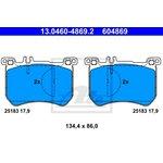 Bremsbelagsatz, Scheibenbremse ATE 13.0460-4869.2