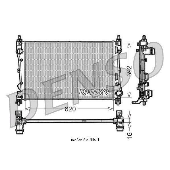 Kühler, Motorkühlung DENSO DRM09113