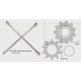 """Radkreuzschlüssel TOPTUL 24 27 Länge: 700mm, LKW 32 mm 3//4/"""""""