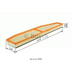 Luftfilter BOSCH F 026 400 147