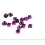 Set selbstblockierender Muttern, 15 Stück M8 violett