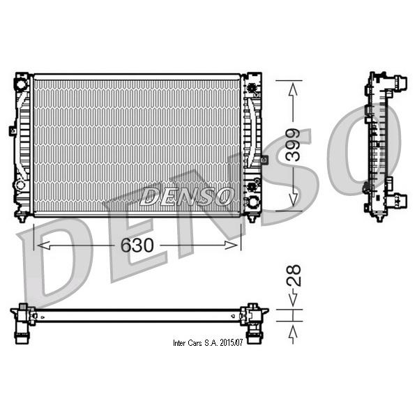 Kühler, Motorkühlung DENSO DRM02031
