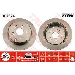 Bremsscheibe TRW DF7374, 1 Stück