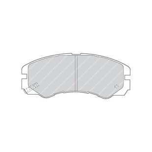 Bremsbelagsatz, Scheibenbremse FERODO FDB1015