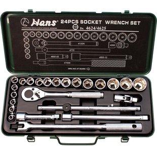 """Steckschlüsselsatz HANS 1/2"""" 6-kant 24 Stück (8 mm - 32 mm)"""