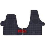POLGUM Gumové koberce, přední, 2 ks, černé, pro vozy VW Transporter T-5 a T-6