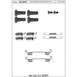 Zubehörsatz, Feststellbremsbacken QUICK BRAKE 105-0867