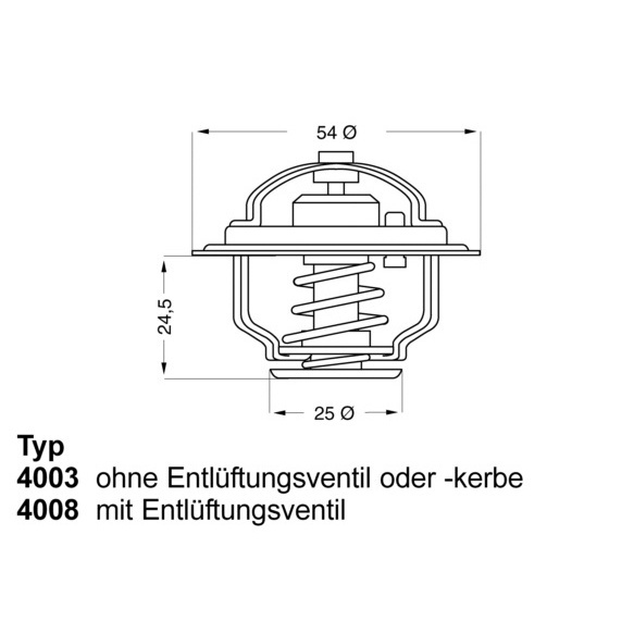 Thermostat, Kühlmittel WAHLER 4008.79D