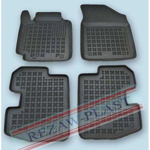 REZAW-PLAST Gumové koberce, černé, sada 4 ks (2x přední, 2x zadní), Toyota Yaris I 04.1999-11.2005