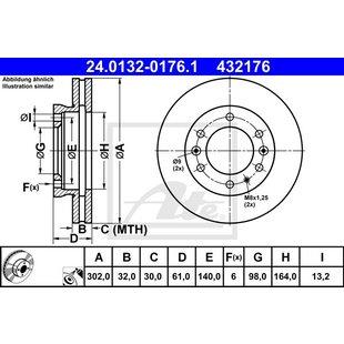 Bremsscheibe ATE 24.0132-0176.1
