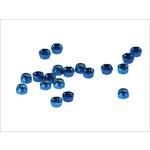 Set selbstblockierender Muttern, 20 Stück M5 blau